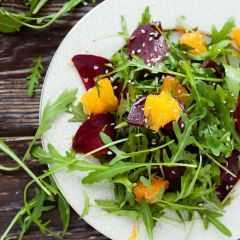 Romaine Salad with Mandarin Oranges & Blue Cheese Vinaigrette